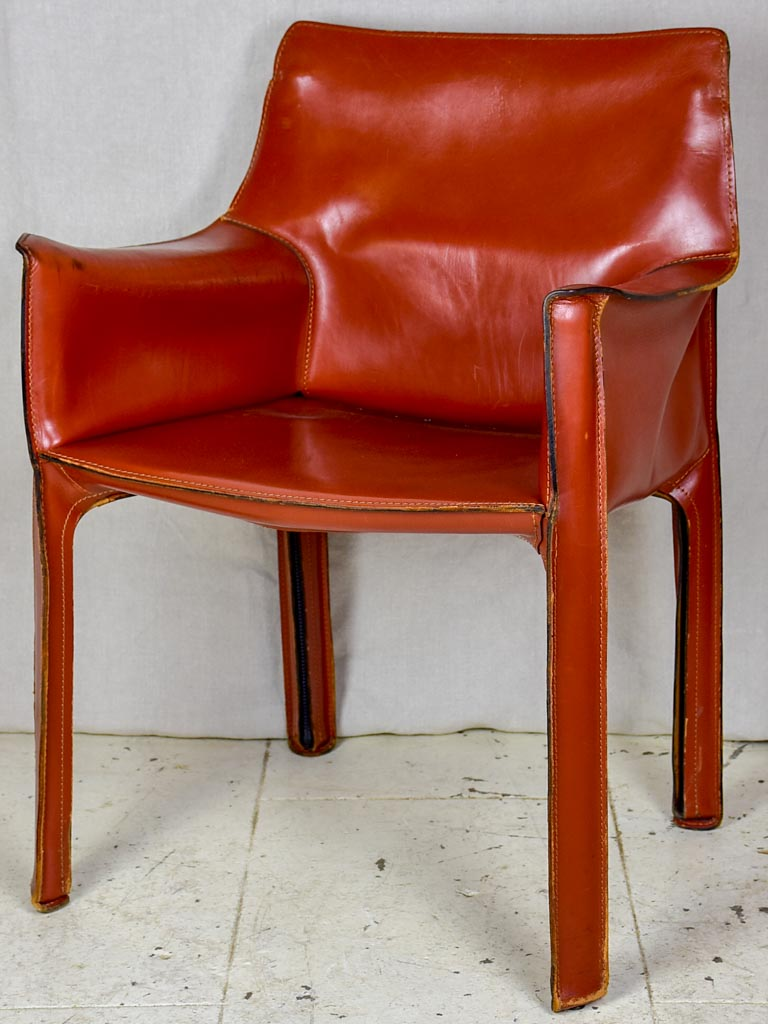 Vintage Bellini leather armchairs - 4 available