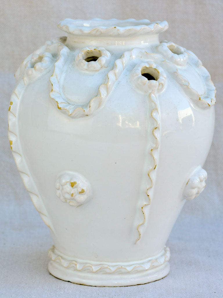 Mid century French Émile Tessier vase from Malicorne signed 8¼""