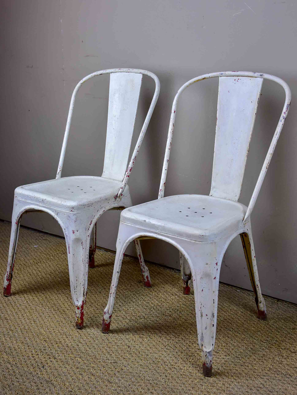 Pair of original 1950's Tolix chairs
