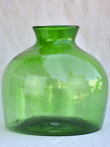 One very large green glass vase / bottle 13½""