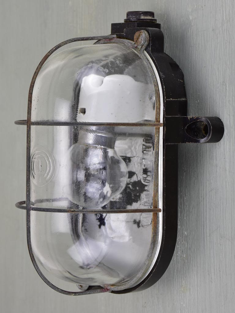 Antique Industrial French wall light - exterior