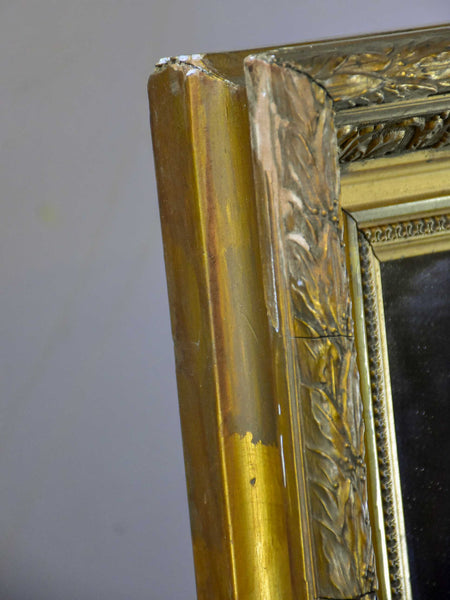 Late 19th Century rectangular mirror with gilded frame