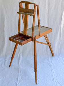 1940's French fold away easle for painting en plein air