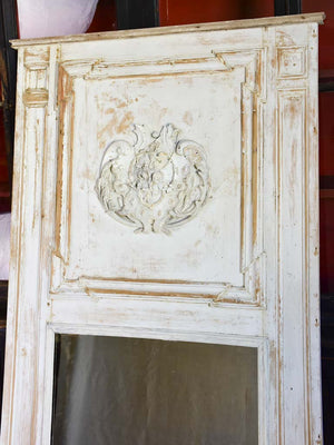 "19th Century French trumeau mirror 41"" x 74½"""