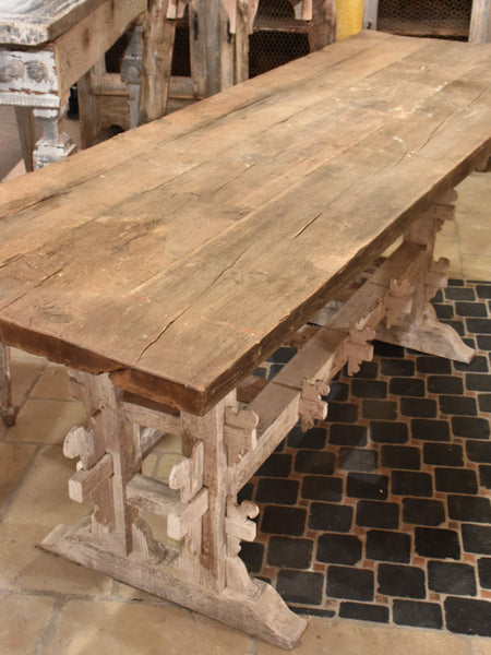 Rustic 19th Century Italian Farmhouse Table Chez Pluie