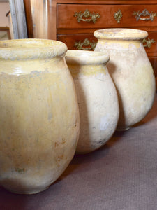 Collection of three antique biot jars