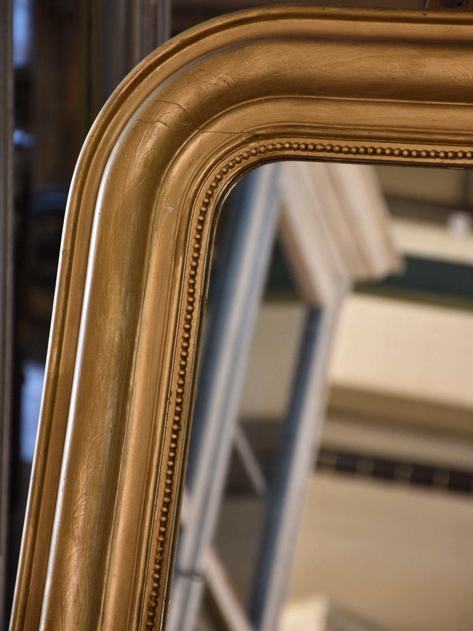 Louis Philippe mirror with gold frame