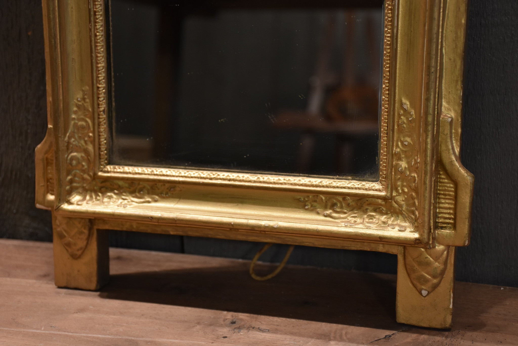 "Early 19th century French vanity mirror 13¼"" x 24"""