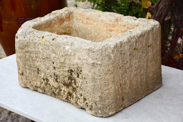 Antique French stone animal trough