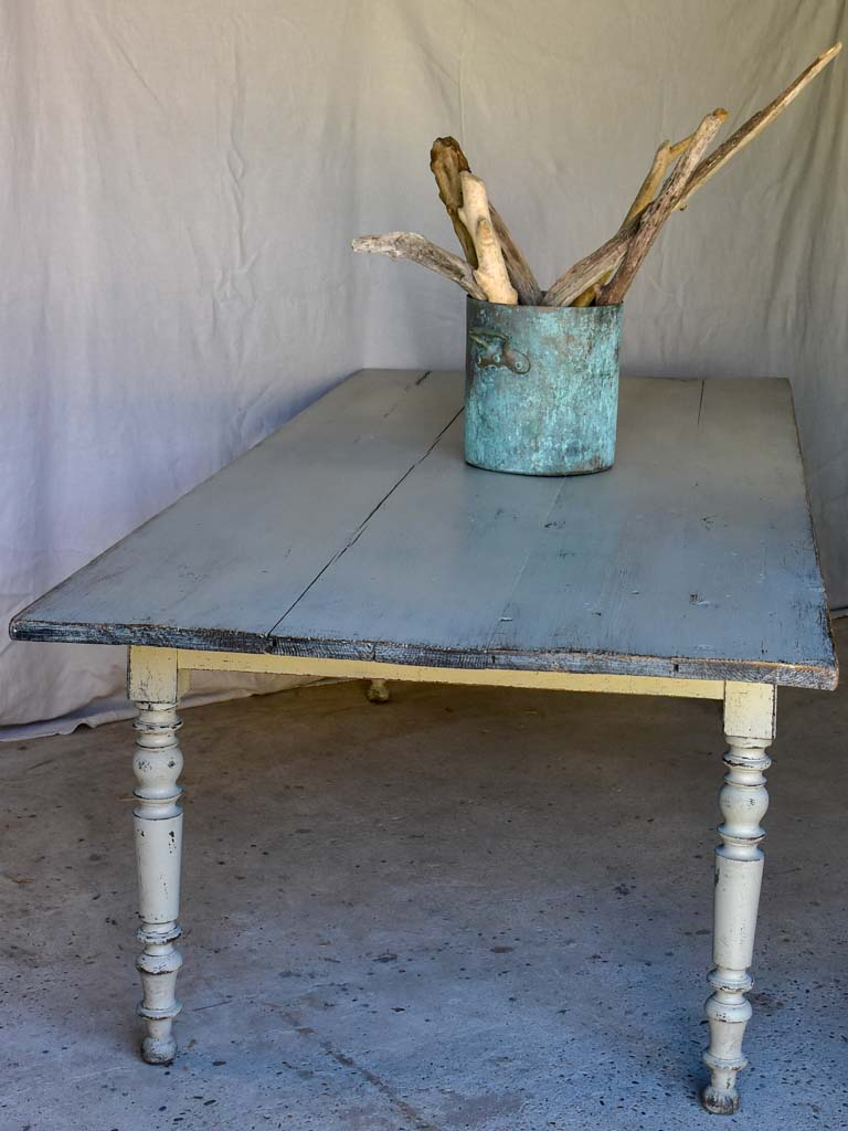 "19th Century French farm table - 10 seater 3'4"" x 8'2"""