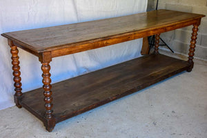 Large 19th Century French oak drapery table (two available)