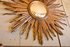 Late 19th century French sunburst mirror