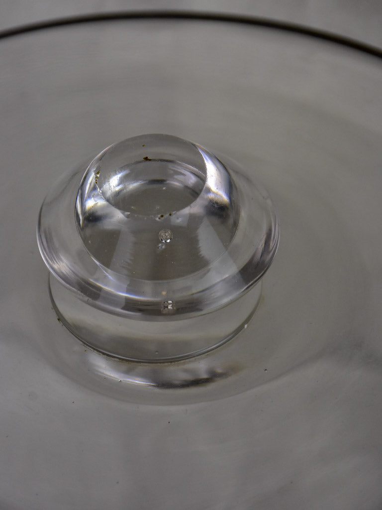 "19th Century blown glass patisserie dome 10¾"" x 8¼"""