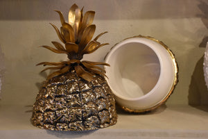 Vintage gold Michel Dartois pineapple ice-bucket