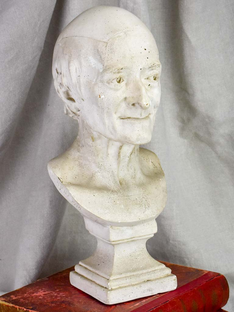 Early 20th Century French plaster bust of Voltaire