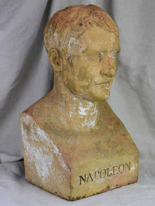19th Century clay bust of Napoleon