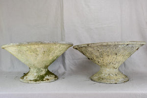 Pair of mid century tilted Willy Guhl diabolo planters