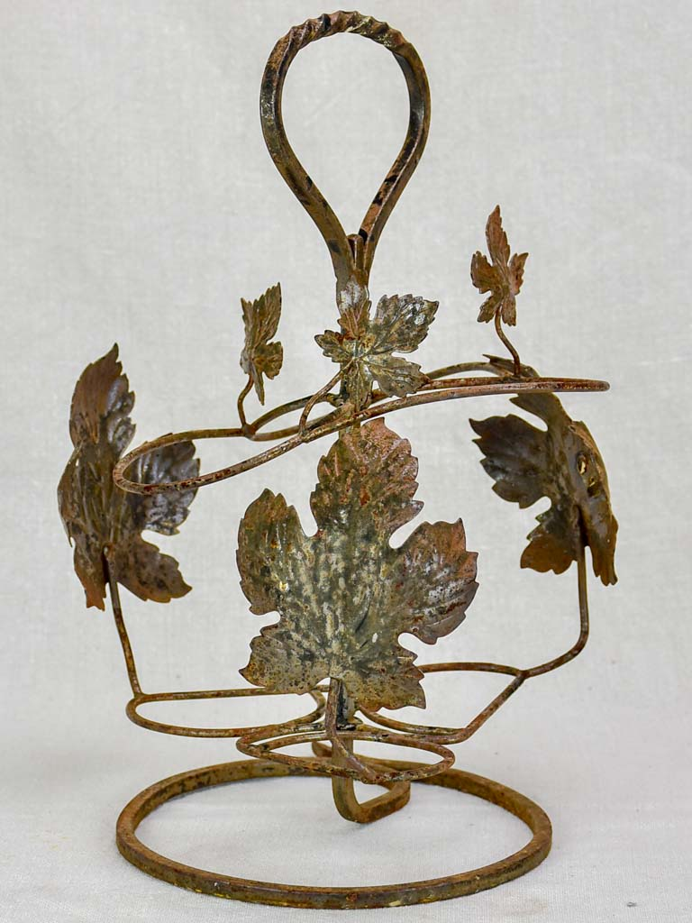 Late 20th century Italian bottle carrier with vine leaves