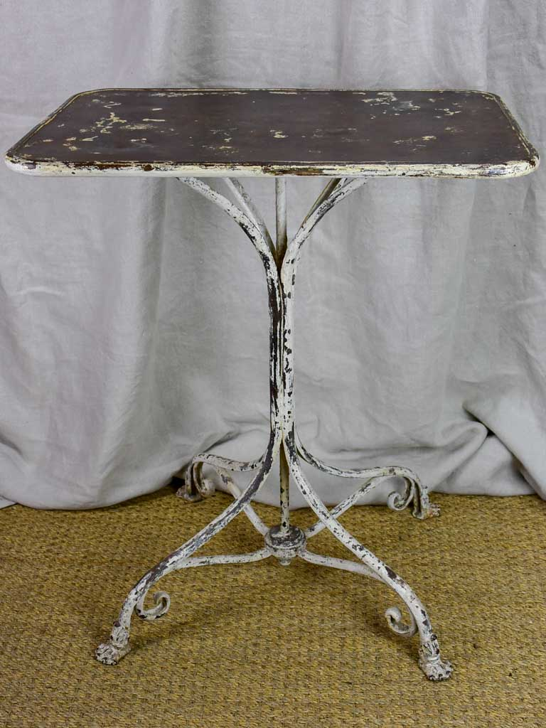 Small rectangular Arras garden table with claw feet - 19th Century