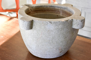 18th century marble mortar with beak
