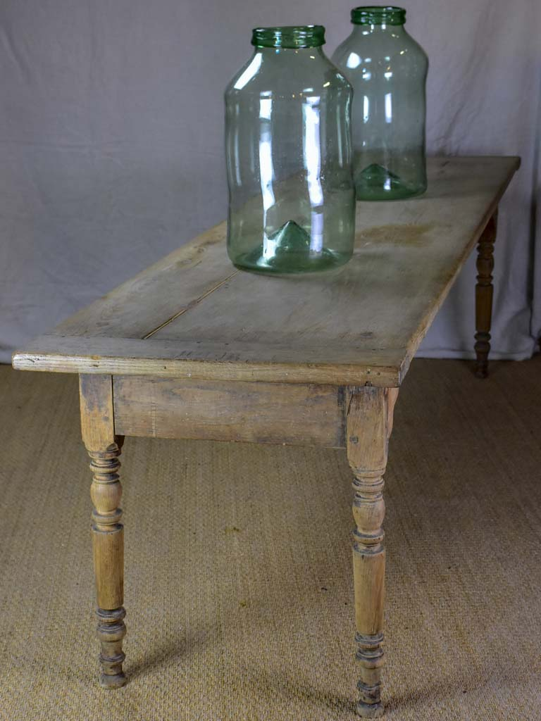 "Early 19th Century French farm table - bleached oak 28"" x 104¼"""