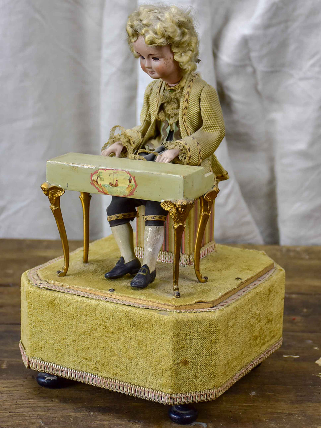 Early 20th Century German wind up toy of Mozart playing piano