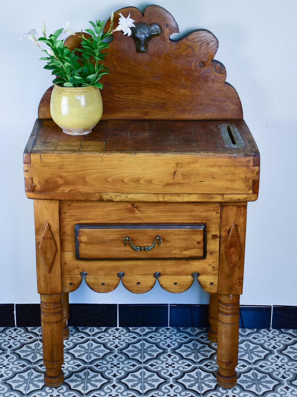 Vintage French Butcher's table