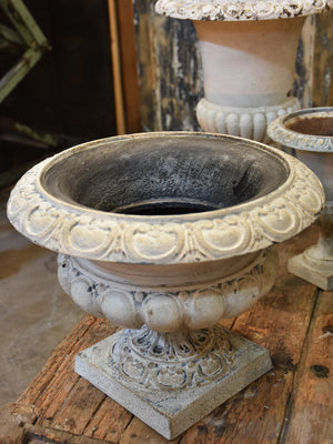 Antique French Medici urn - white