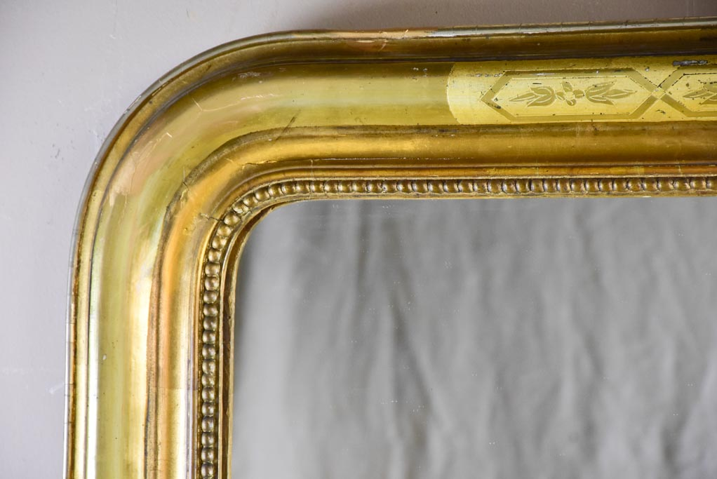 "Large gilded Louis Philippe mirror from the 19th Century 51¼"" x 35½"""