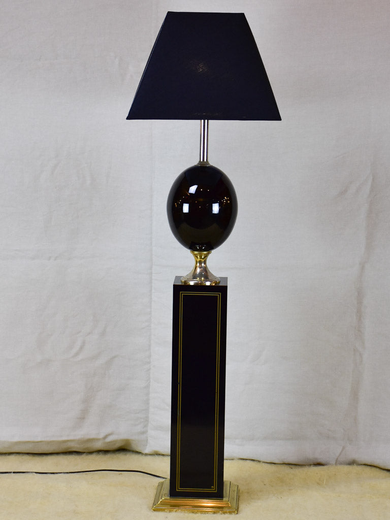 Vintage Le Dauphin floor lamp - black