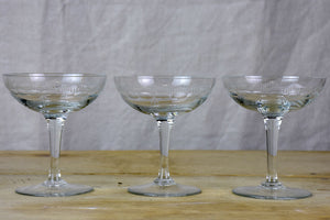 Set of 12 French champagne cups from the 1950's