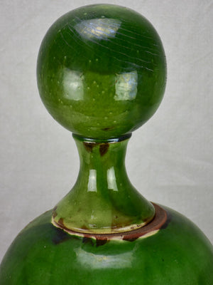 Mid 20th century French ceramic roof finial with green glaze 20¾""