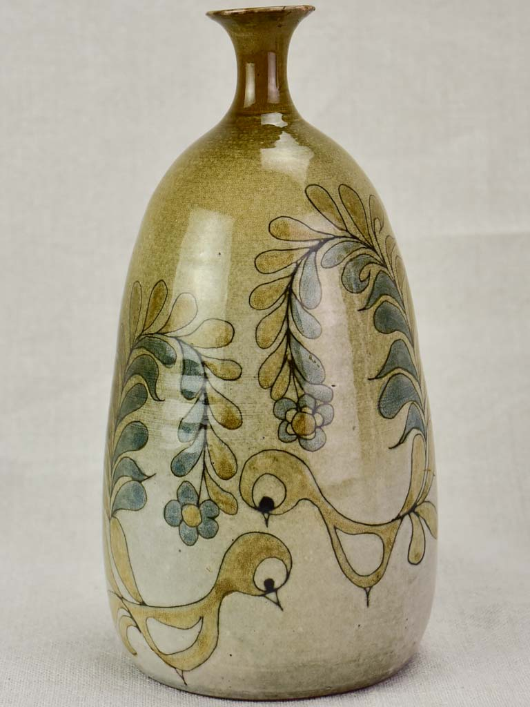 Vintage handpainted French vase - Michel Bailly - Cévennes 9½""