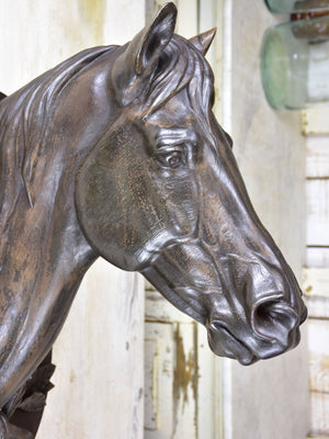 19th century French horse head - cast iron