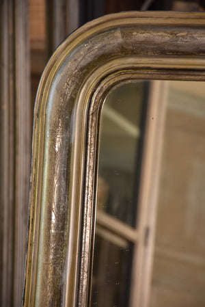 Mid 19th century Silver framed Louis Philippe mirror