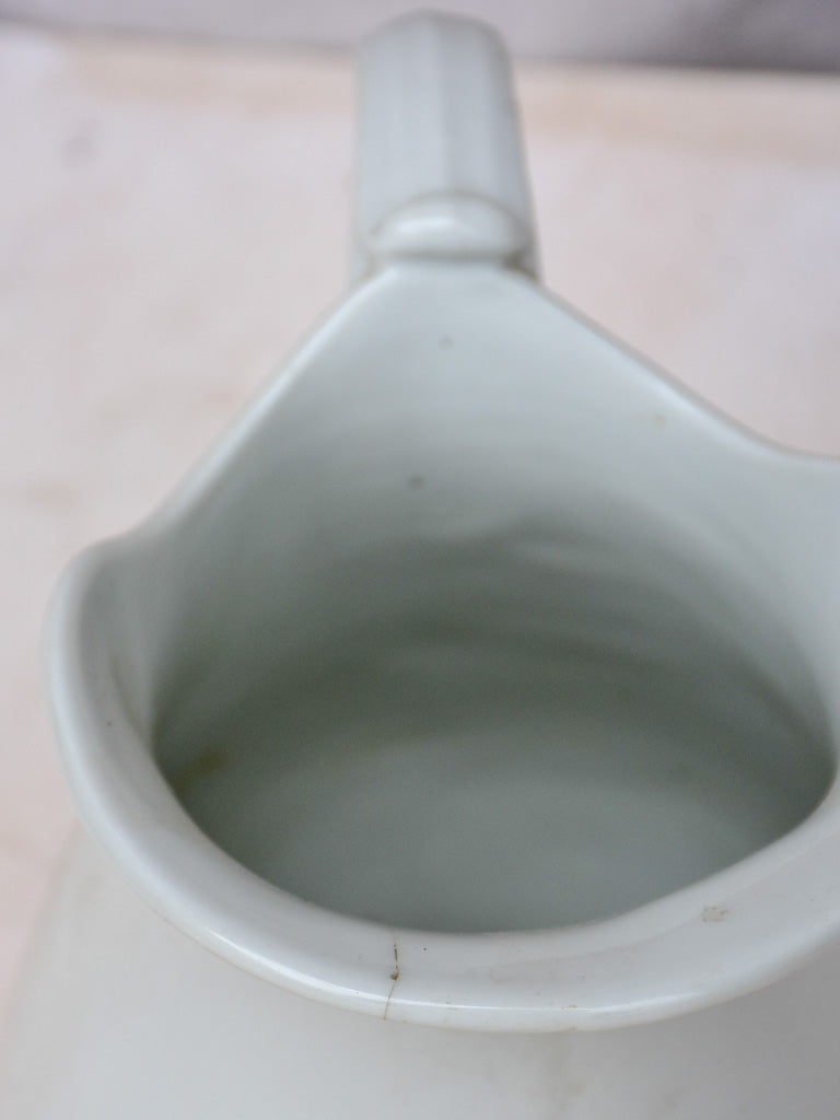 Antique white French pitcher