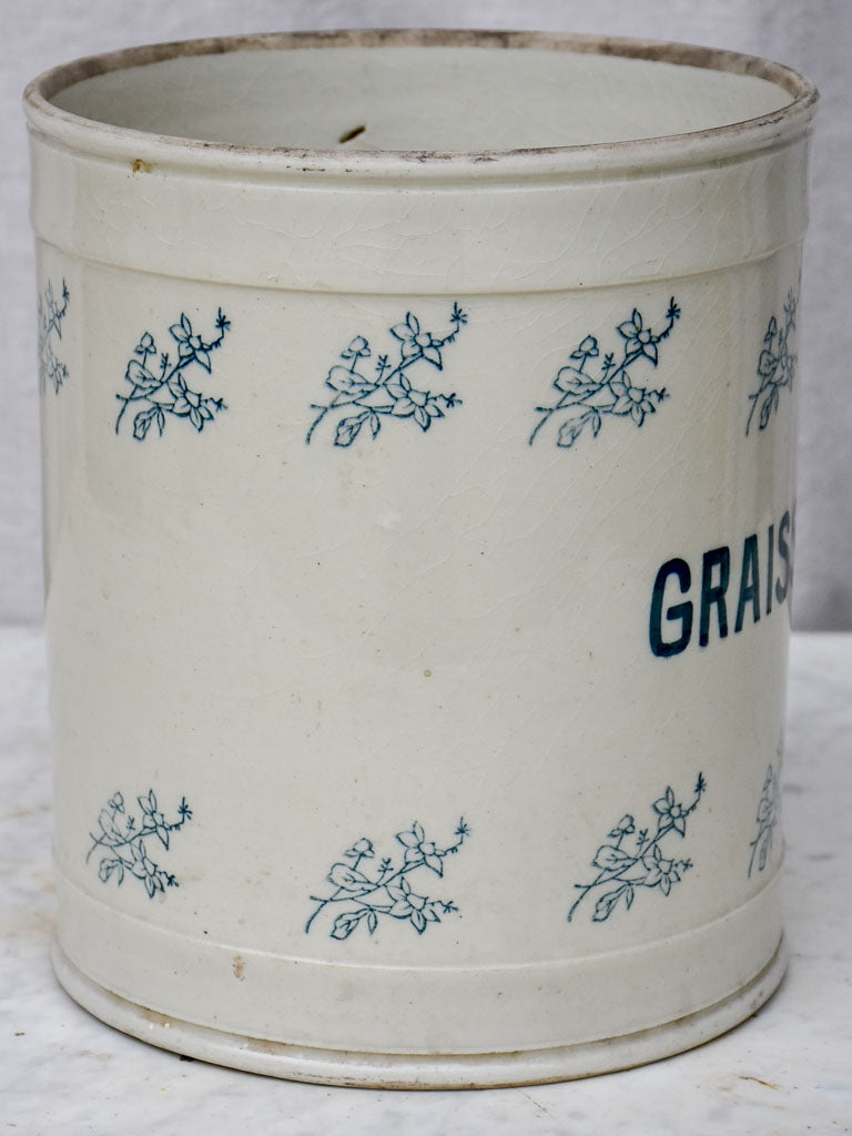 Large preserving pot - 'Graisse blanche' 8¾""