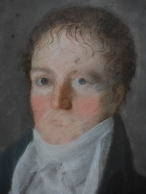 "Early 19th Century English portrait of a man - Pastel 19¾"" x 24"""
