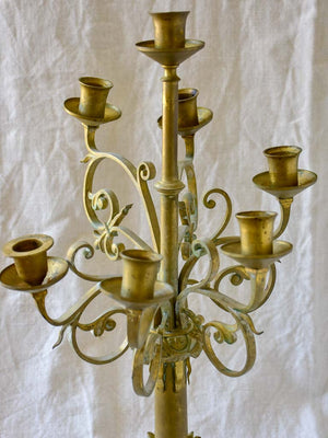 Pair of antique Candlesticks in the style of Viollet-le-Duc