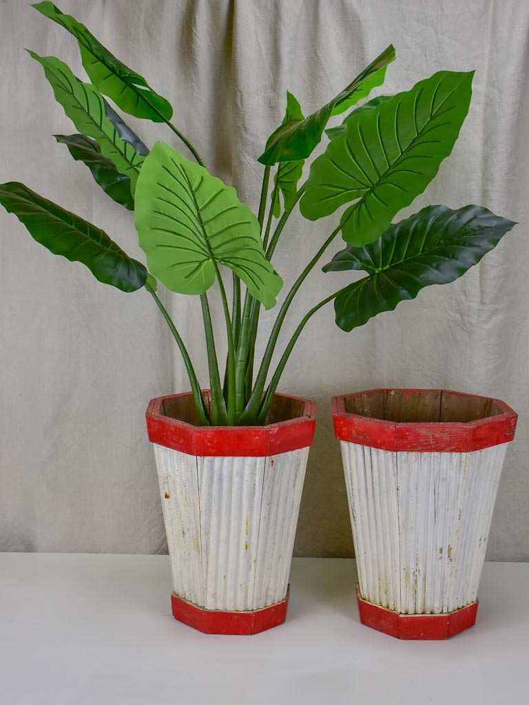 Pair of vintage French garden pot plant stands- 1950