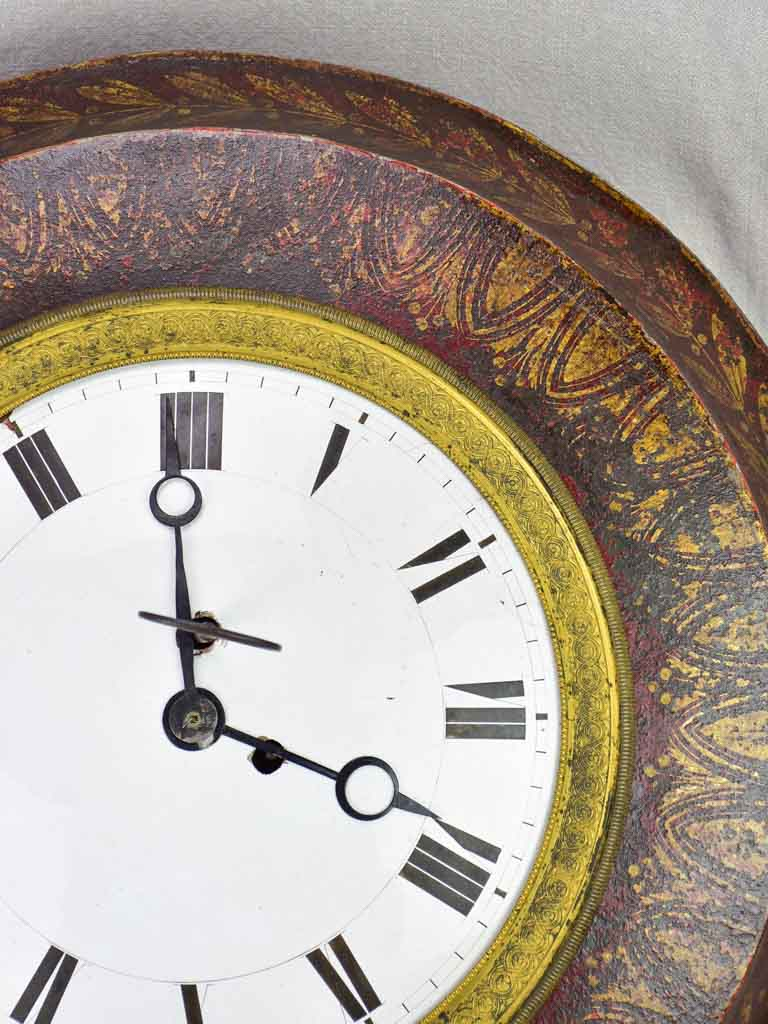Antique French tole clock - directoire 20¾""