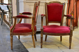 Pair of 19th century Louis XV armchairs