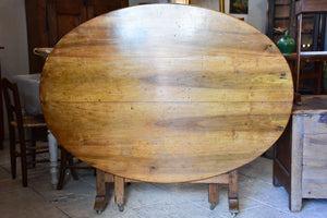 Antique French oval vigneron table