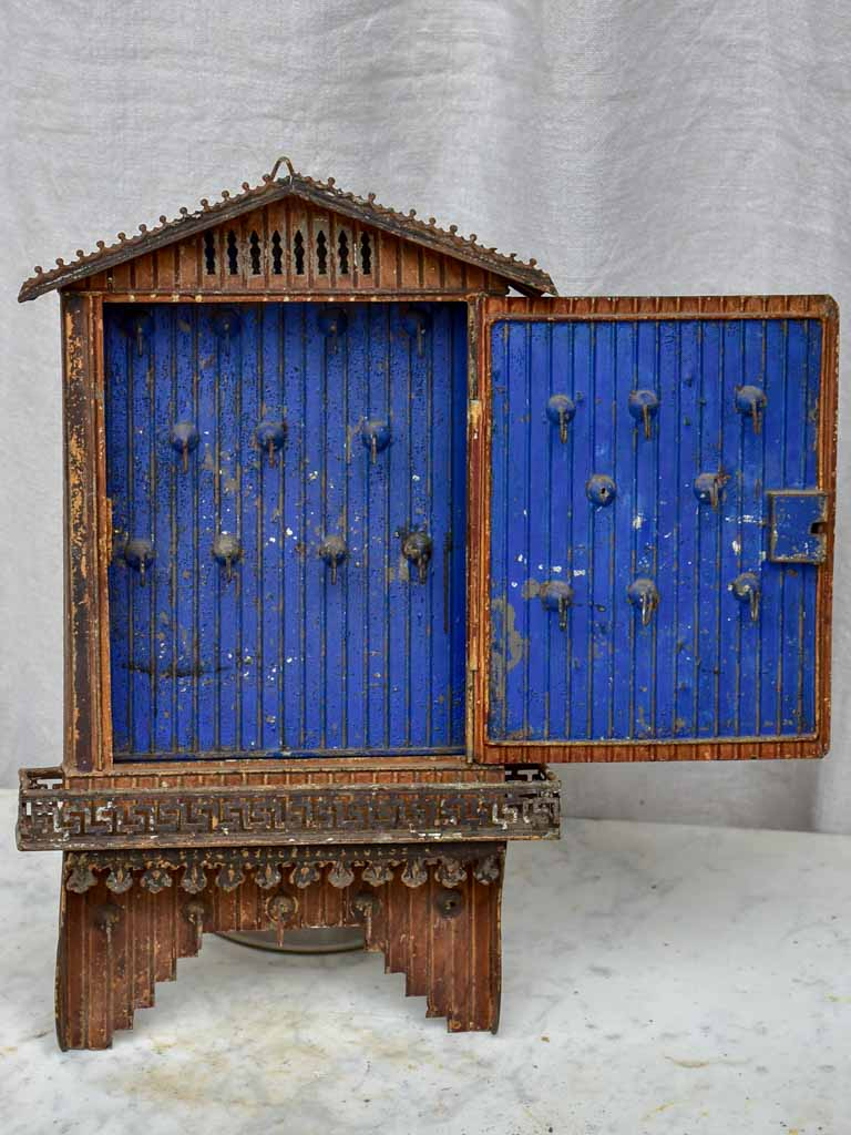 Antique French key storage box