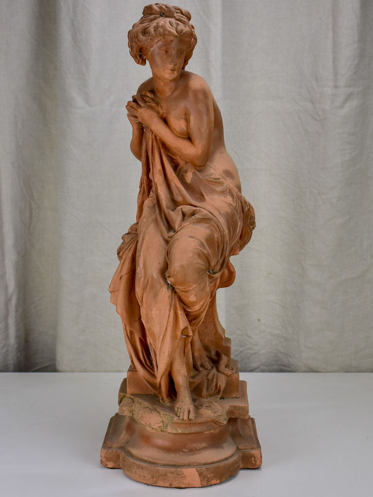 Antique Carrier Belleuse terra cotta sculpture