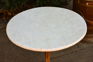 Antique Spanish bistro tables with marble tops