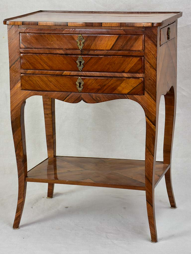 Louis XV side table with side drawer
