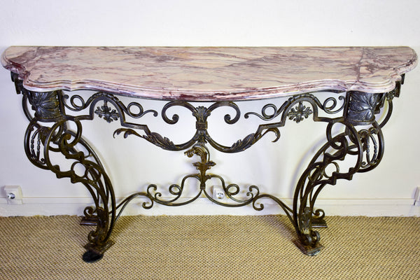 Large Louis XV marble console table