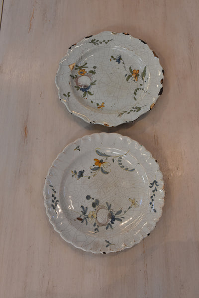 Two early 19th century French earthenware plates