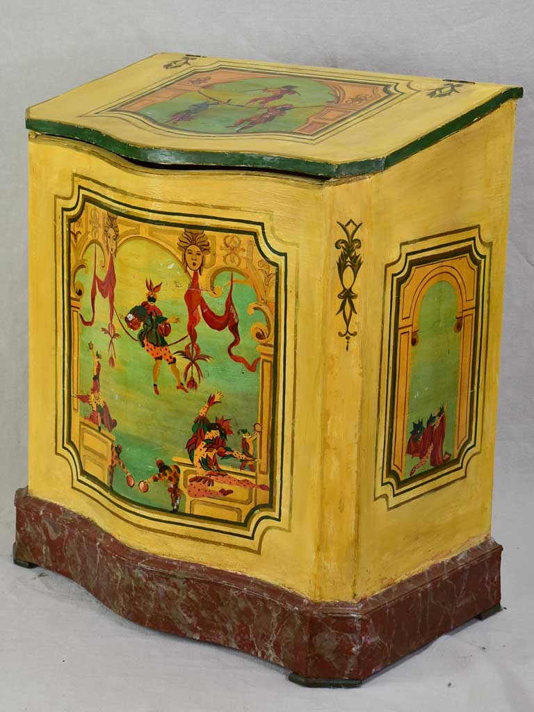 Early twentieth-century painted trunk / wood box